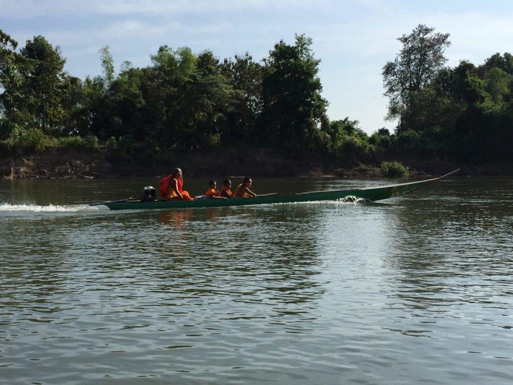 Bonze tail boat, 4000 îles, Mékong, Laos