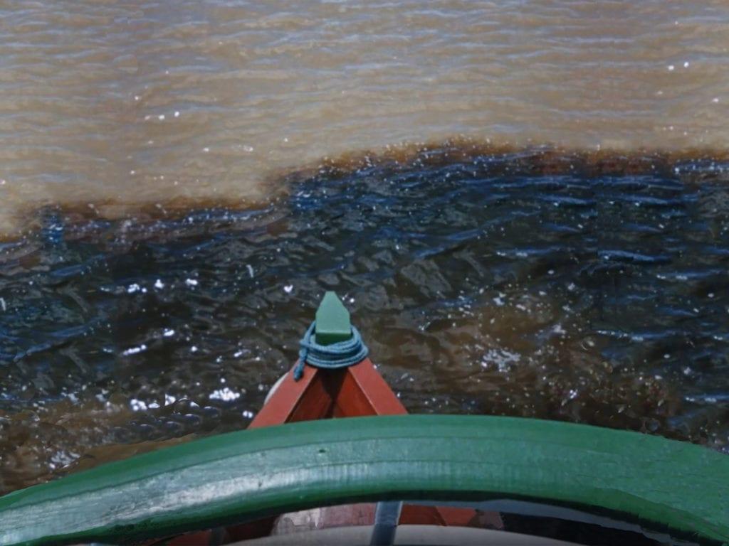 Confluent du Rio Negro et de l'Amazone