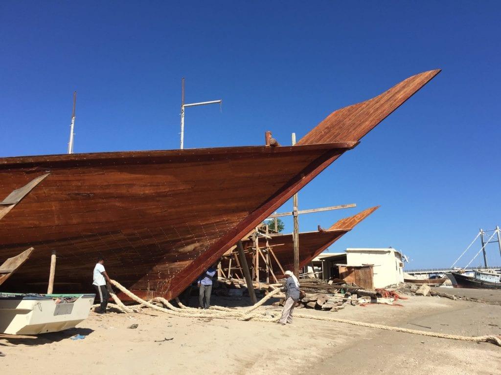 Le chantier des dhows à Sur