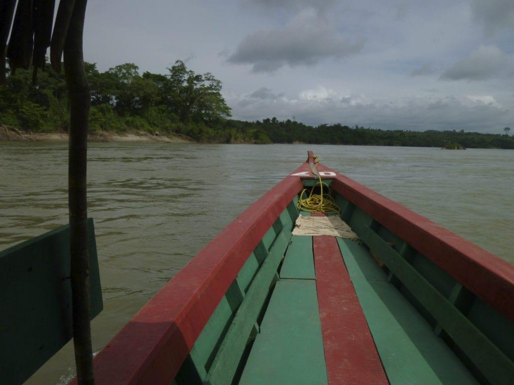 Rio Usumacinta,  Yaxchilan, frontière Guate - Mex.